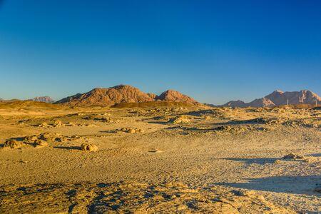 Mountains in arabian desert not far from Hurghada city, Egypt