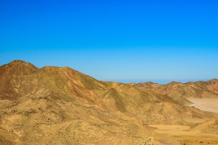 Mountains in arabian desert not far from Hurghada city, Egypt
