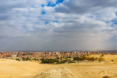 View on Cairo city from Giza plateau