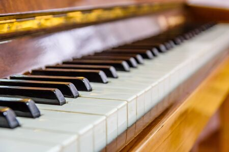 Closeup of black and white piano keys Reklamní fotografie