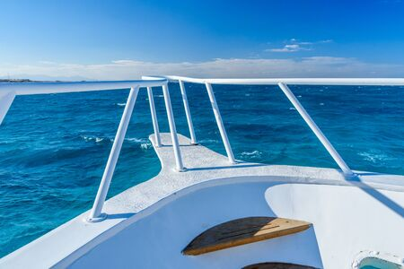 View on a Red sea from yacht bow Stok Fotoğraf