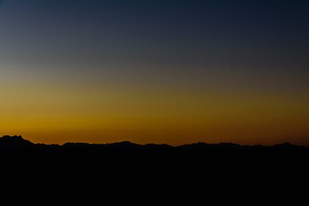 Sunset in arabian desert not far from Hurghada city, Egypt Archivio Fotografico