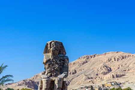Memnon colossi (statues of Pharaoh Amenhotep III) in Luxor, Egypt Stock fotó