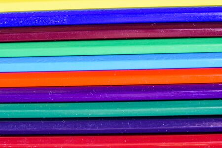 Background of the many multi colored pencils
