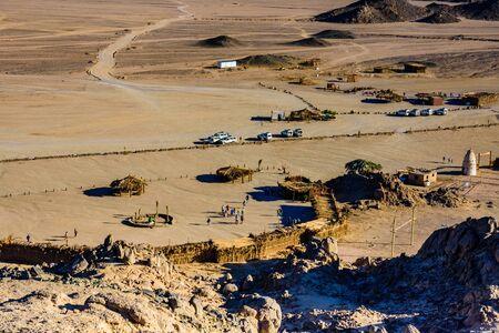 View on bedouin village in Arabian desert not far from Hurghada city, Egypt Reklamní fotografie