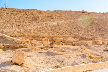 View on high cliffs in valley of kings. Luxor, Egypt Stock fotó - 131146607
