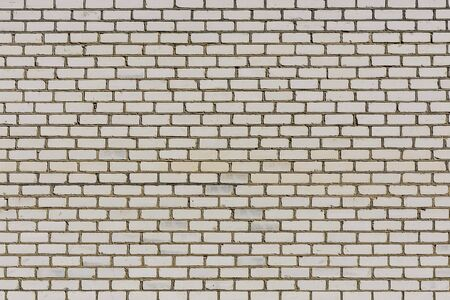 White brick wall of the modern building for background