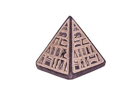 Souvenir egyptian pyramid isolated on white background Stock Photo