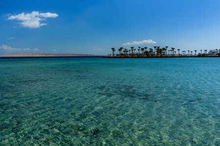 Panoramic view on Red sea. Summer vacation Фото со стока