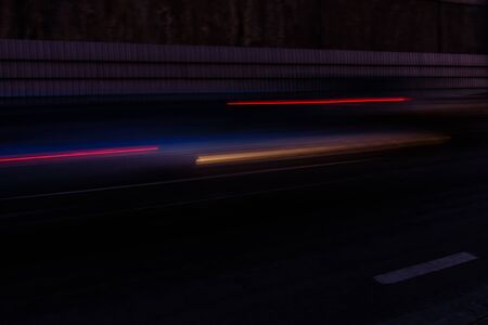 Light trails from cars on a highway Stock Photo - 133165801
