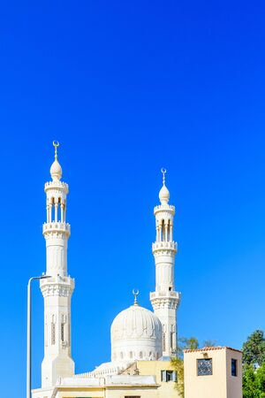 Central mosque in El Dahar district of Hurghada city, Egypt