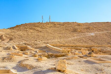 View on high cliffs in valley of kings. Luxor, Egypt
