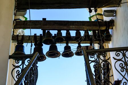 Some bells on bell tower of church