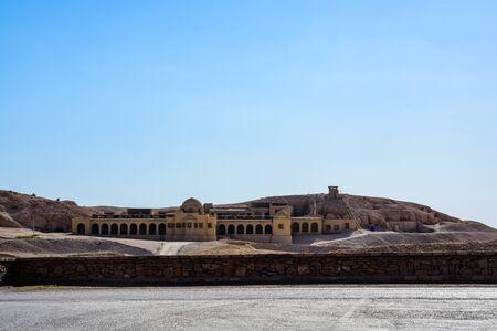 Buildings near temple of Hatshepsut in Luxor, Egypt