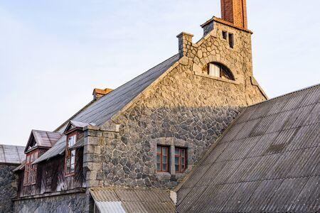 Building of old water mill in Nemirov, Ukraine