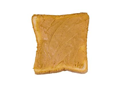 Sandwich with peanut butter isolated on white background