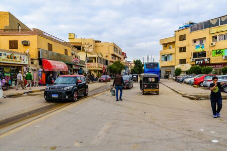 Cairo, Egypt - December 8, 2018: Street in Cairo city, Egypt Editorial