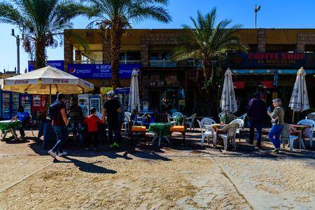Luxor, Egypt - December 11, 2018: Street cafe in Luxor, Egypt