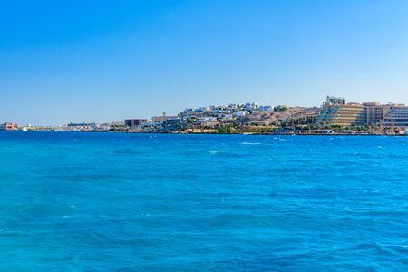 Panoramic view on Hurghada city from Red sea Reklamní fotografie