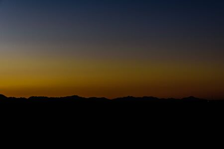 Sunset in arabian desert not far from Hurghada city, Egypt Reklamní fotografie