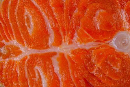 Texture of salmon fish fillet for background Reklamní fotografie