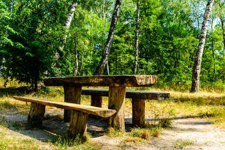Picnic place in city park on summer Archivio Fotografico