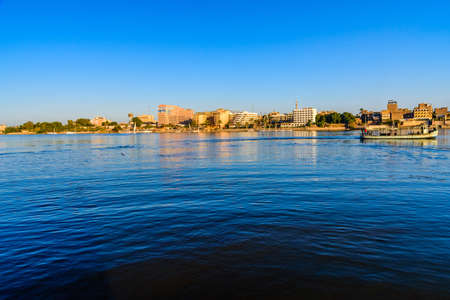 Tourist boat on a Nile river in Luxor, Egypt