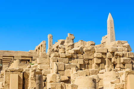 Ruins of ancient Karnak temple. Luxor, Egypt Editorial