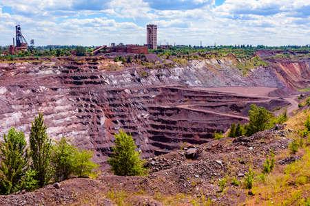 View on iron ore quarry in Kryvyi Rih, Ukraine