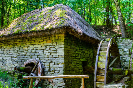 Building of old water mill in Pyrohiv, Ukraine