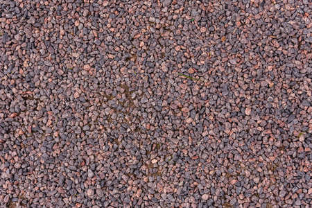Texture of the gravel road for background Imagens