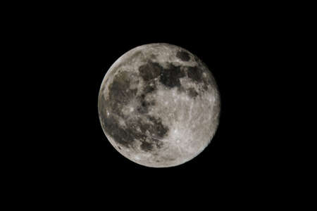 Full moon in black sky. Astronomy concept