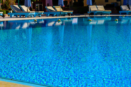 View on swimming pool with clear water