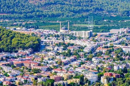 Aerial view of Kemer town. Antalya province, Turkey Banco de Imagens