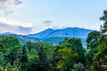 Mountains near canyon not far from city Kemer. Antalya province, Turkey Banco de Imagens