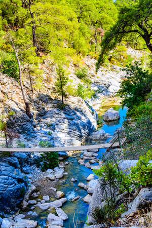 Bridge across river in Goynuk canyon. Antalya province, Turkey