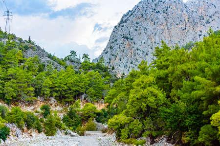 Rocks in canyon not far from city Kemer. Antalya province, Turkey