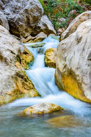 Waterfall in Goynuk canyon. Antalya province, Turkey