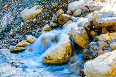 Rapids on river in Goynuk canyon. Antalya province, Turkey Banco de Imagens