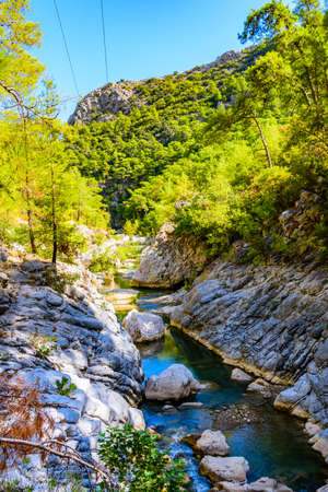 River in Goynuk canyon. Antalya province, Turkey