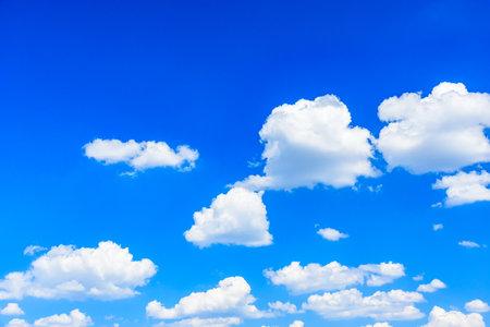 White fluffy clouds in a blue sky