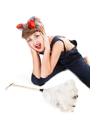pin up girl, bonde  housewife photo