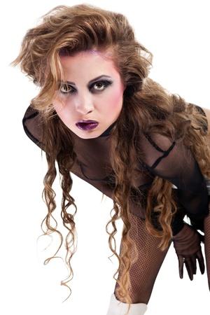 rocker girl: Maquillaje fresco de rockero sexy chica wiht