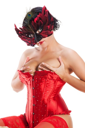 mujer sexy desnuda: Sexy mujer desnuda de m�scara
