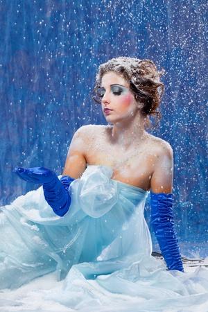 Beautiful girl like Snow White photo