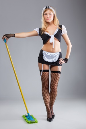 The sexy cleaner photo