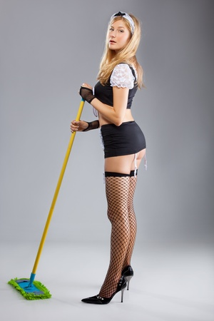 The sexy cleaner