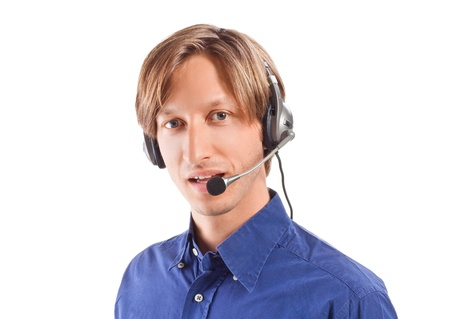 businessman working in a call center Stock Photo - 9306118