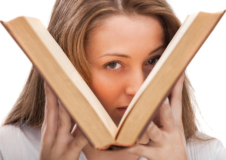 student woman with book photo