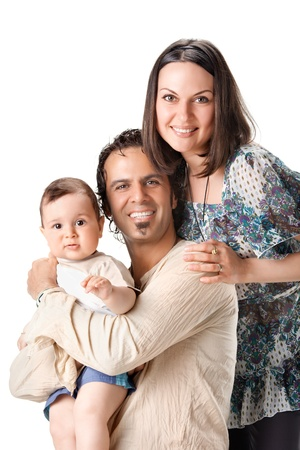 Casual portrait of a attractive young family photo